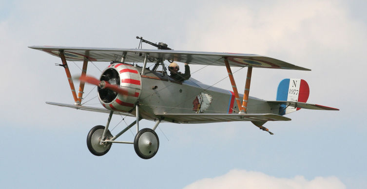 Аэроплан «Ньюпор» времен Первой мировой войны