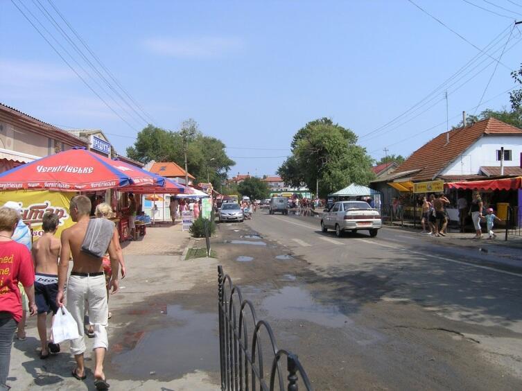 Район автовокзала поселка городского типа Затока