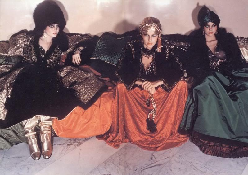 Модели в нарядах из«Русской коллекции» Ив Сен-Лорана