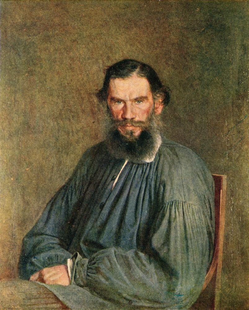 Н. Крамской, «Портрет Льва Толстого», 1873г.