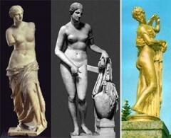 """Три самые известные Венеры: """"безрукая"""" Милосская, Книдская - резца Праксителя и Каллипига (""""Прекраснозадая""""). Одну из многочисленных копий последней Вы можете увидеть в Петергофе на Большом Каскаде."""