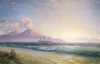 Неаполитанский залив ранним утром