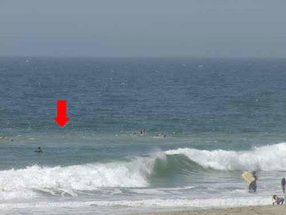 Второй, видимый с берега, признак отбойного течения