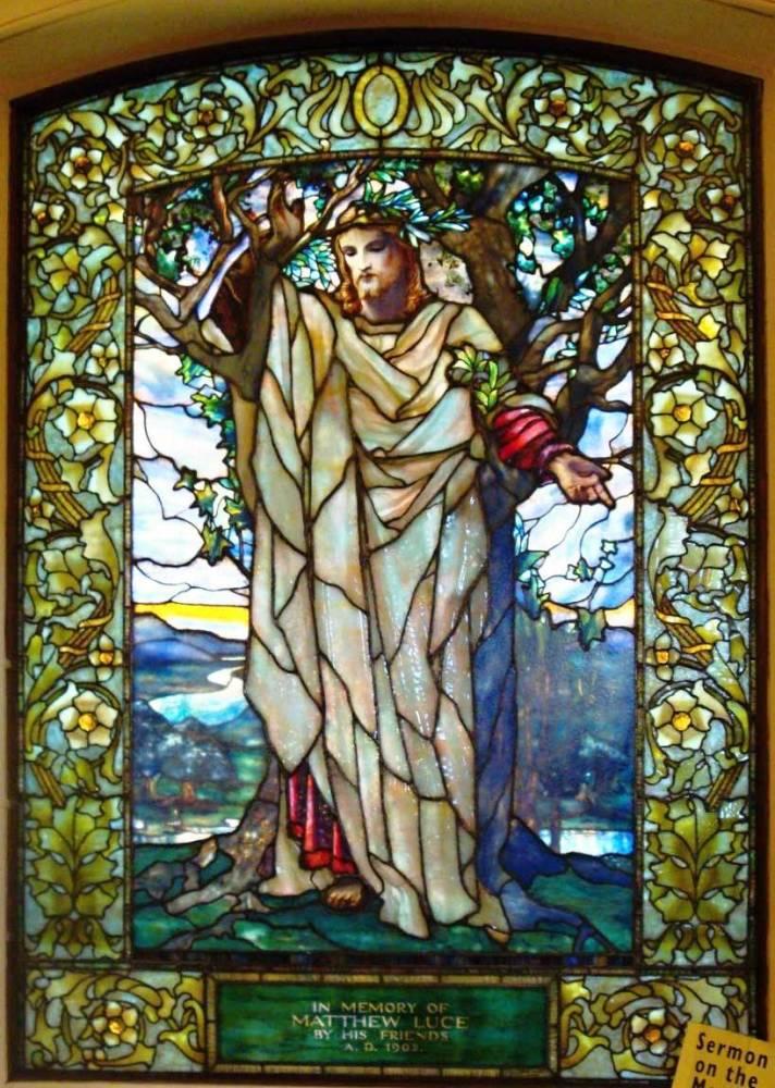 Л. К. Тиффани, витраж «Нагорная проповедь», Церковь Арлингтон-стрит, Бостон