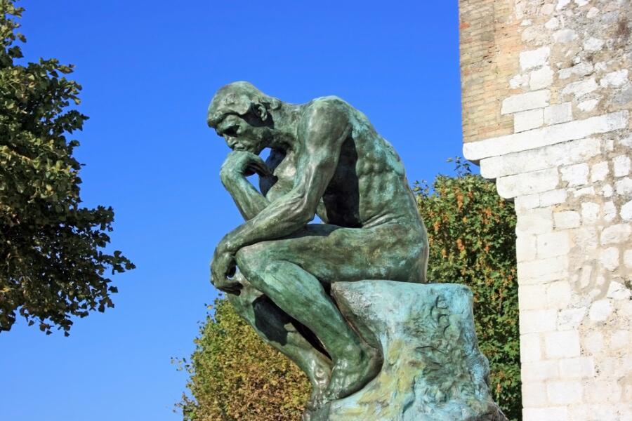 Огюст Роден, «Мыслитель», 1880—1882 г., копия