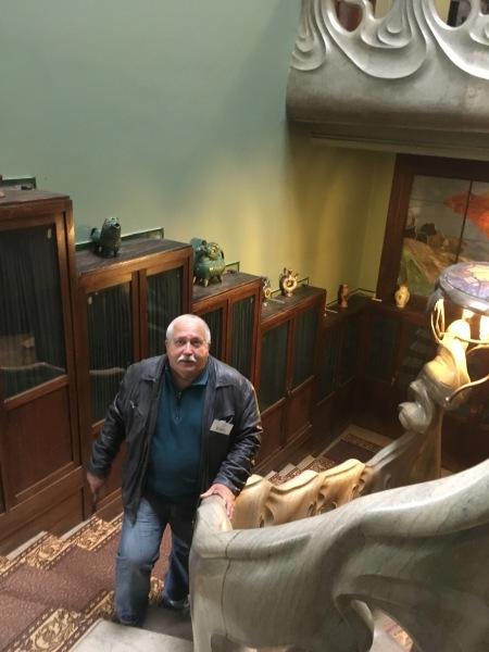 Знаменитая лестница-волна в Музее-квартире А. М. Горького