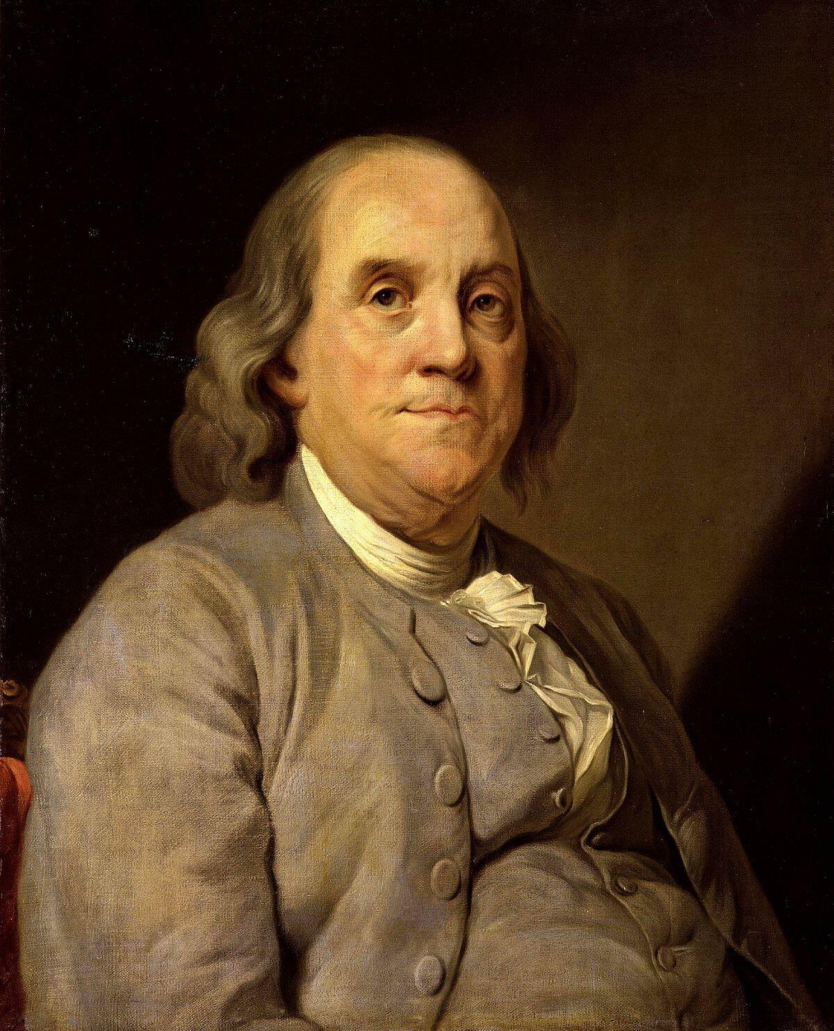 Жозеф Дюплесси, «Портрет Бенджамина Франклина», ок. 1785г.