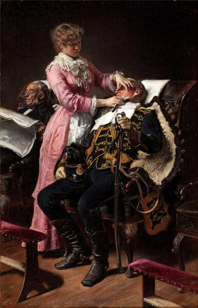Картина датского художника Vilhelm Jakob Rosenstand