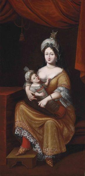 Кёсем Султан с сыном
