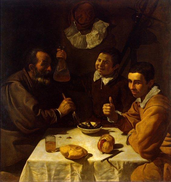 Диего Веласкес, «Трое за столом», 1618г.