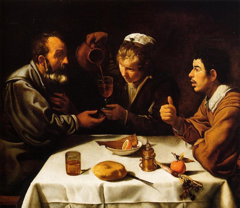 Диего Веласкес, «Крестьянский обед», 1618г.