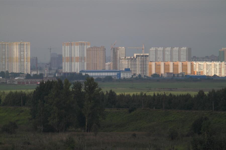 Шушары (вид с Пулковских высот)