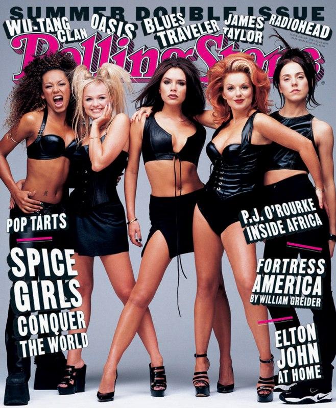 Справа налево: Мелани Браун, Эмма Бантон, Виктория Адамс, Джери Холлиуэлл, Мелани Чисхолм
