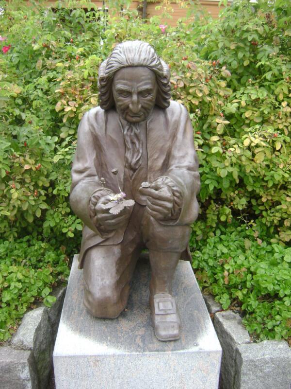 Памятник Карлу Линнею в парке Скансен в Стокгольме