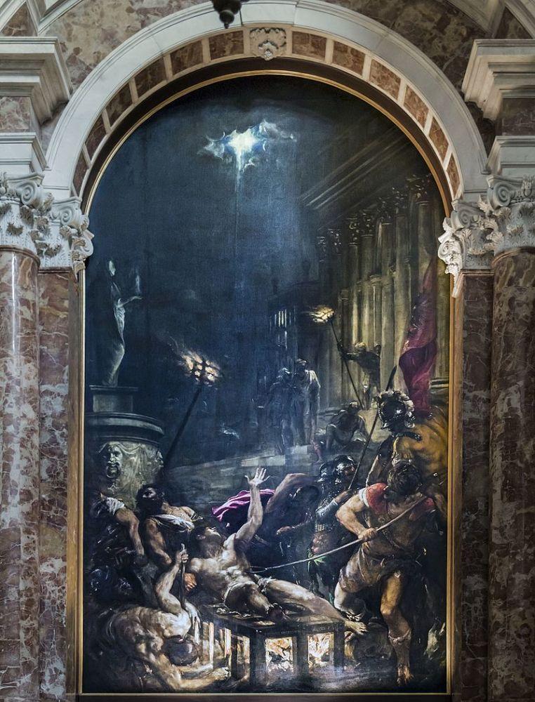 Тициан, «Мученичество святого Лаврентия», 1559г.
