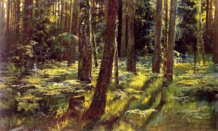И. И. Шишкин, «Папоротники в лесу», 1883 г.