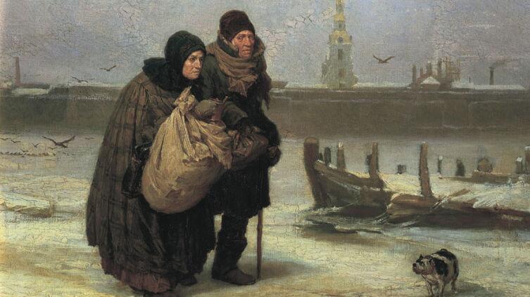 В. М. Васнецов, «С квартиры на квартиру», 1876г.