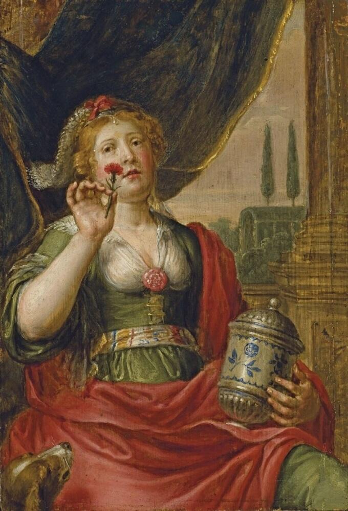 Питер ван Линт, «Артемисия с пеплом царя Мавсола»