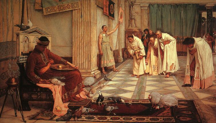 Джон Ватерхаус, «Фавориты императора Гонория», 1883 г.