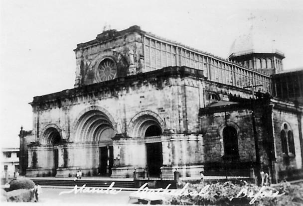 Разрушенный храм после американской бомбардировки 1945 года