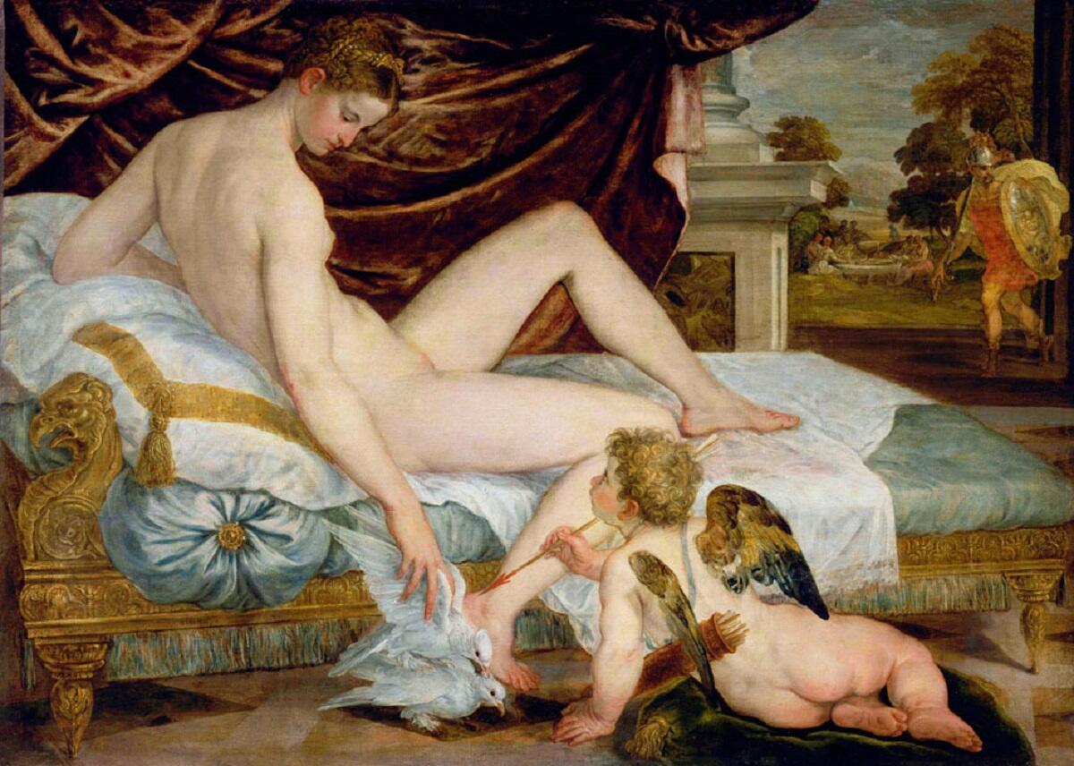 Ламберт Сустрис, «Венера и Амур», 1550г.