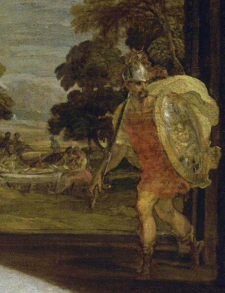 Ламберт Сустрис, «Венера и Амур», фрагмент «Марс»