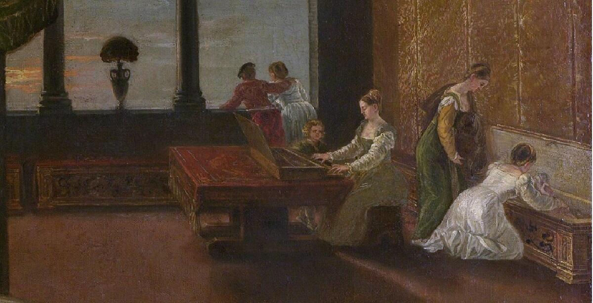 Ламберт Сустрис, «Венера», 1550г., фрагмент «Второй план картины»