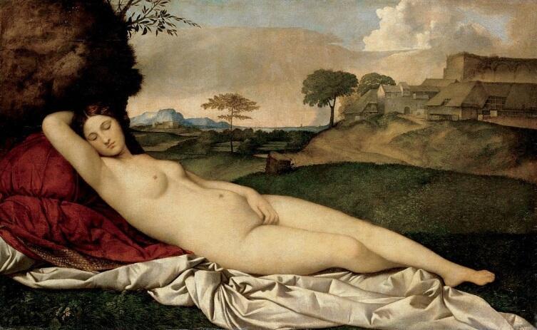 Джорджоне, «Спящая Венера», 1508г.