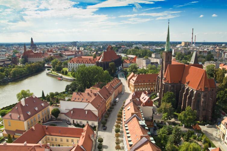 Вид на город Вроцлав, Польша