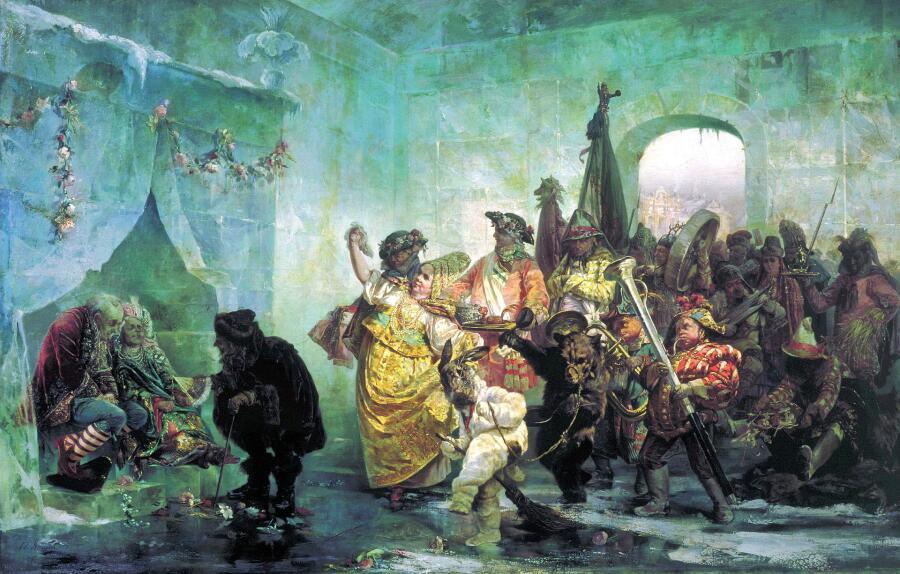 В. Якоби, «Ледяной дом», 1878г.