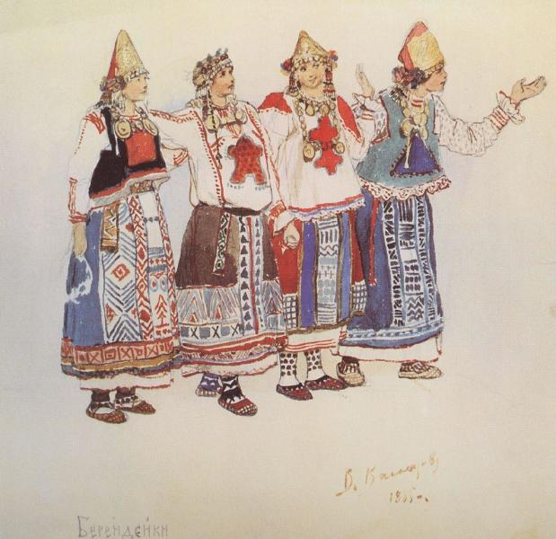 В. М. Васнецов, «Берендейки», 1885 г.