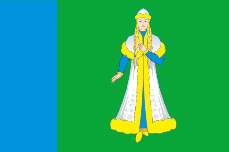 Флаг Островского района Костромской области, Россия