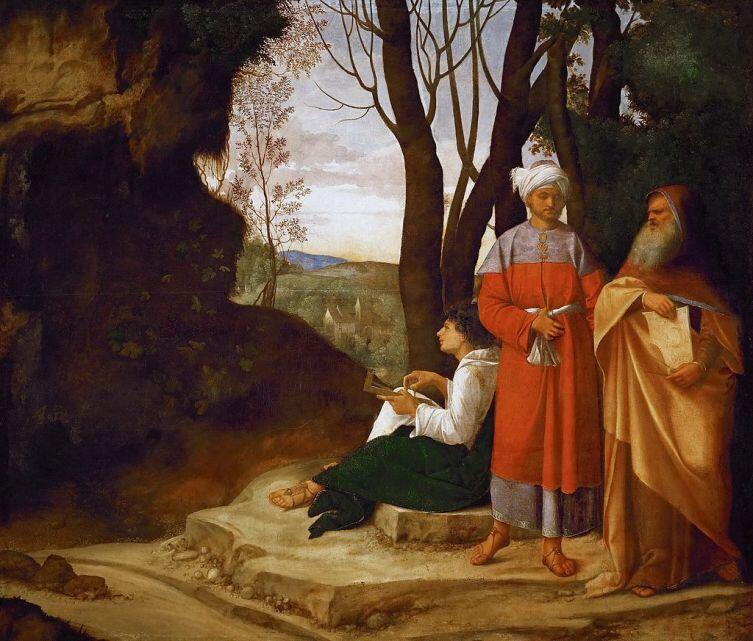 Джорджоне, «Три философа»