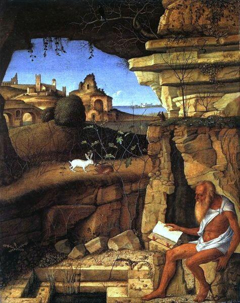 Джованни Беллини, «Святой Иероним читает на природе»