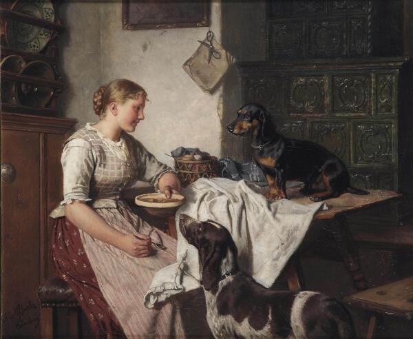 Адольф Эберле, «Кормление собак»