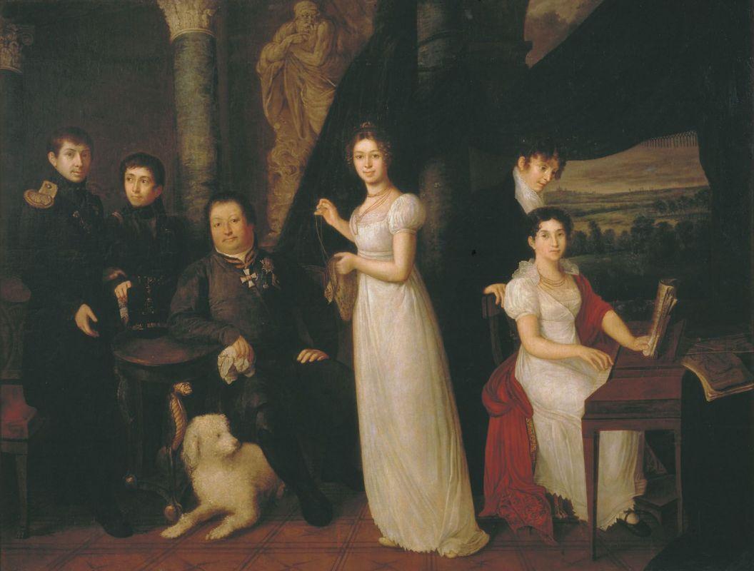 В. А. Тропинин, «Семейный портрет графов Морковых»
