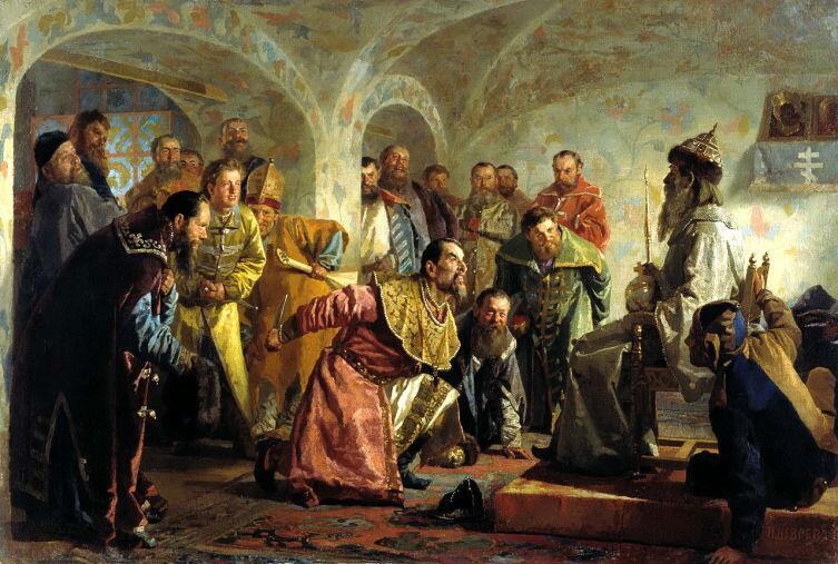 Н. В. Неврев, «Опричники»