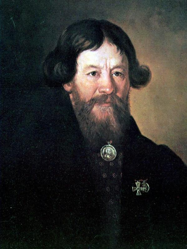 М. И. Теребенёв, «Портрет партизана Егора Стулова», 1813г.