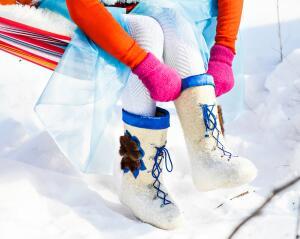  Как подарить детям счастливую и яркую зиму? Обзор дизайнерских валенок для маленьких модников