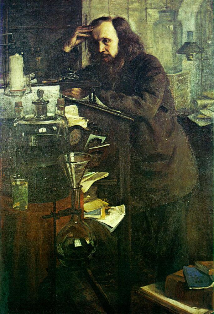 Н. А. Ярошенко, «Д. И. Менделеев», 1886г.