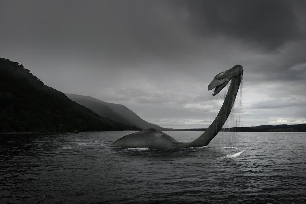 Цифровая визуализация Лохнесского чудовища