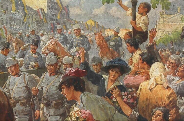 Р. А. Хёгер, «22 июня 1915 года австро-венгерские войска вступают в город Лемберг»
