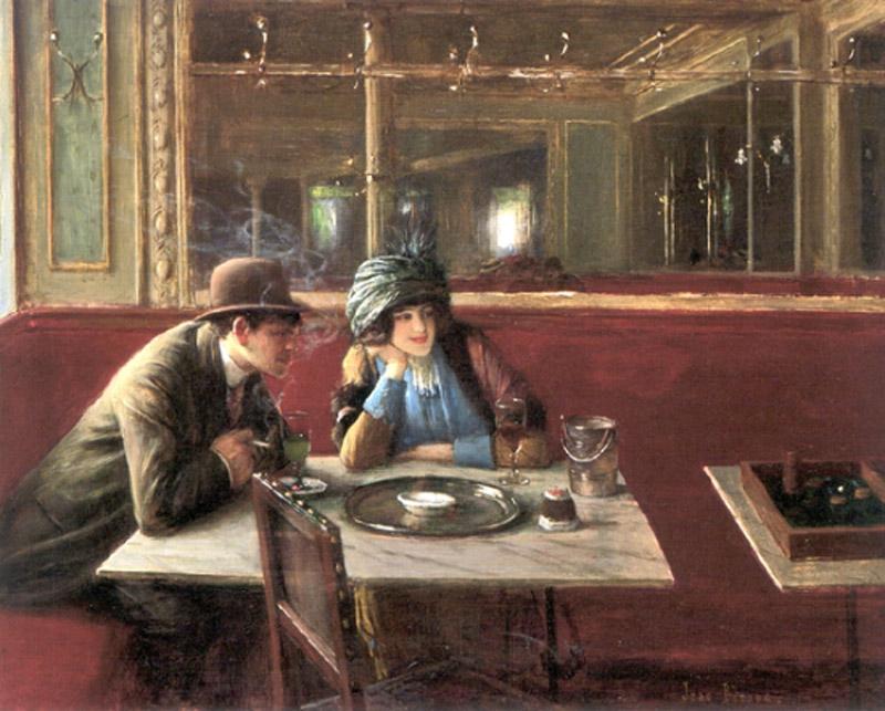 Жан Беро, «В кафе»