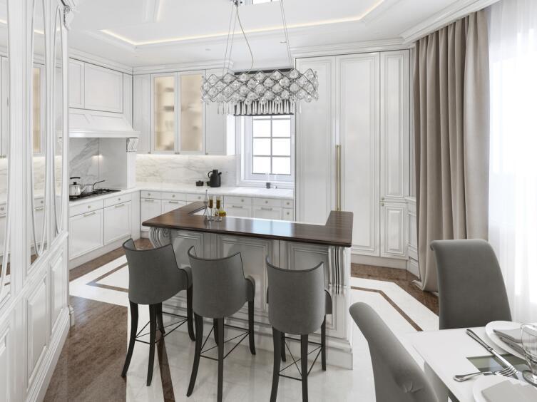 Кухня-столовая в стиле арт-деко