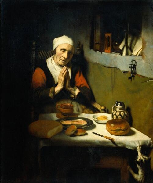 Николас Мас, «Молитва», 1656г.