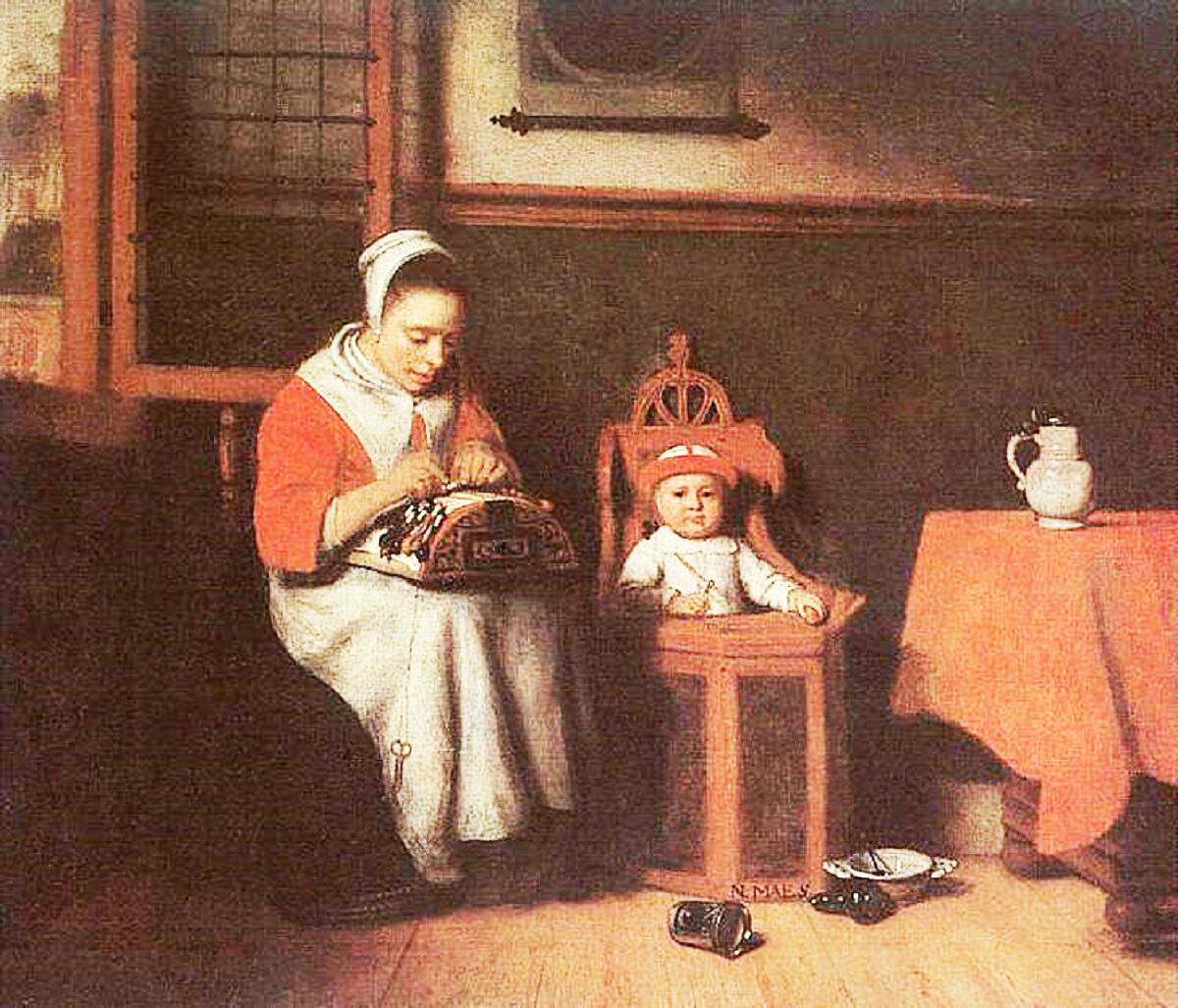 Николас Мас, «Кружевница», 1656г.