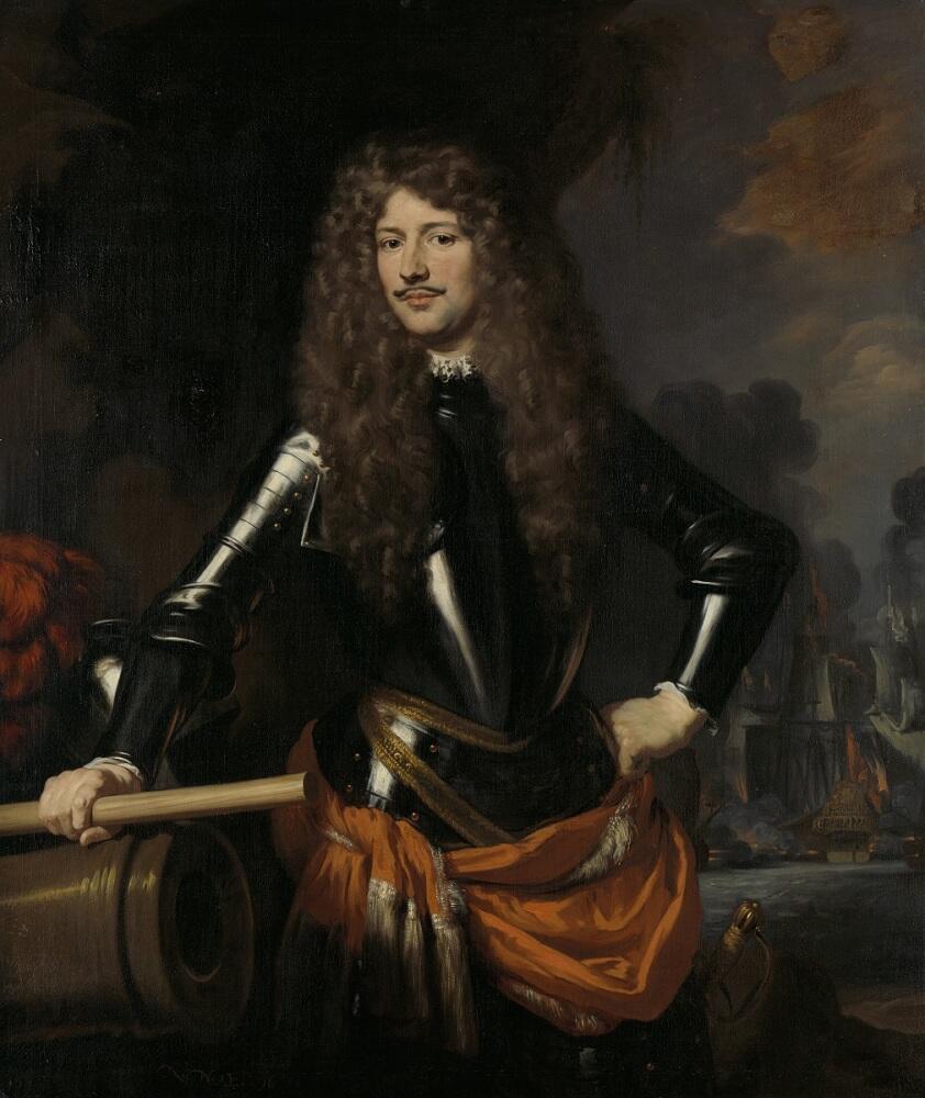 Николас Мас, «Портрет Корнелиса Эверстена де Жонгсте, лейтенант-адмирала», 1680г.