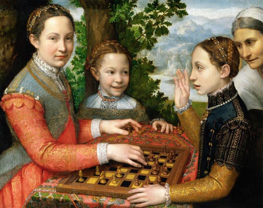 Софонисба Ангвиссола, «Игра в шахматы», 1555г.