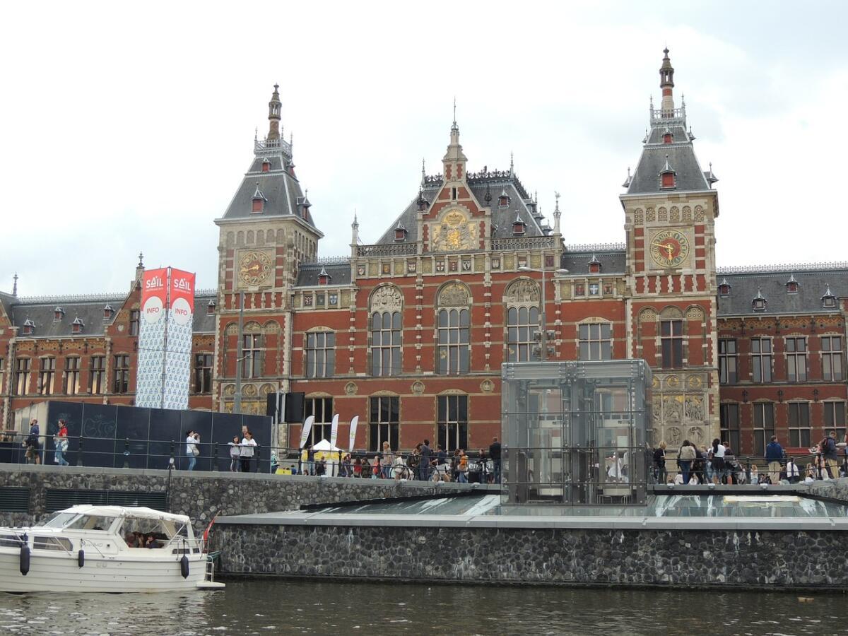 Железнодорожный вокзал в Амстердаме