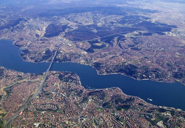 Стамбул и Босфор с высоты